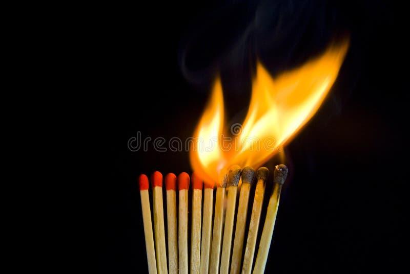 灼烧的符合 免版税库存图片