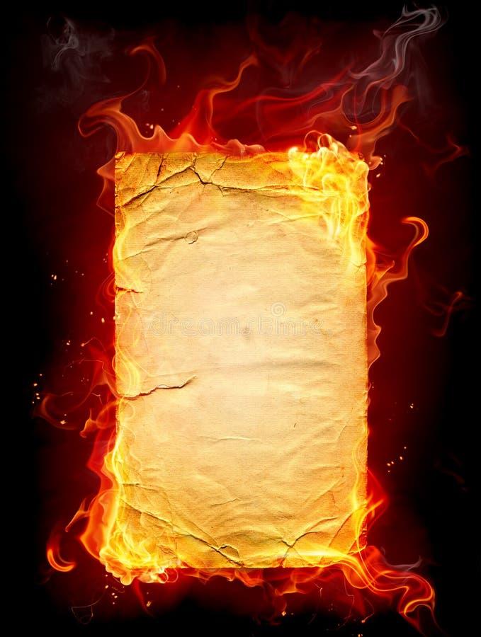 灼烧的纸张 皇族释放例证