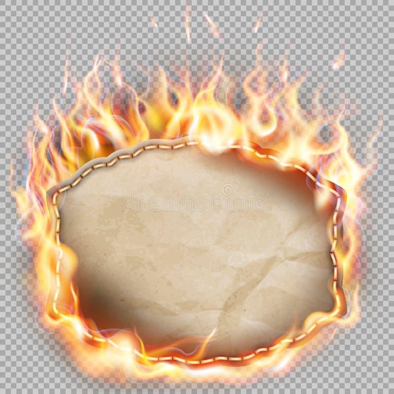 灼烧的纸横幅 10 eps 向量例证