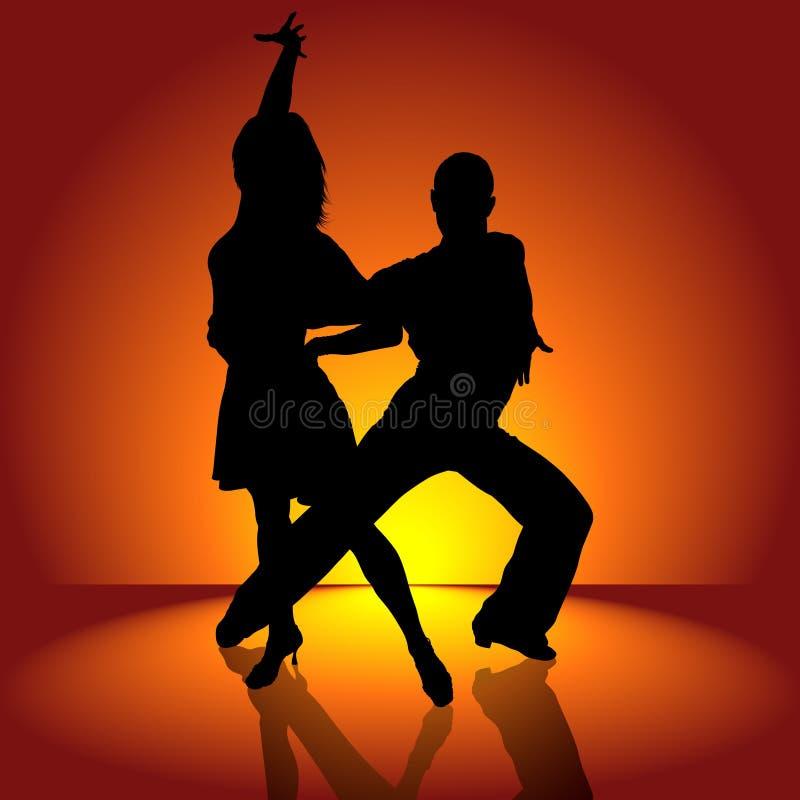 灼烧的舞蹈拉丁美洲人 库存例证
