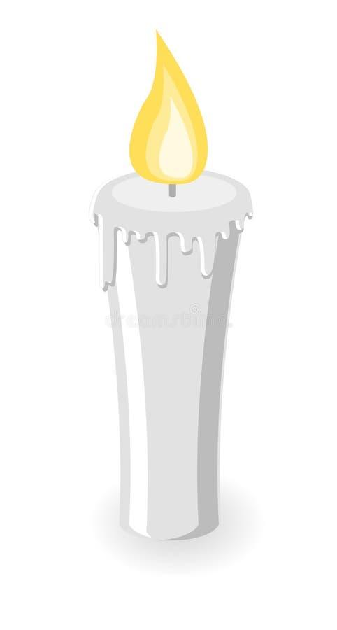 灼烧的蜡烛向量 库存例证