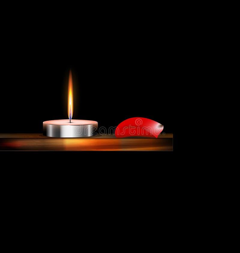 Download 灼烧的蜡烛和红色瓣 向量例证. 插画 包括有 黑暗, 其它, 唯一, 兴奋, 植物群, 绽放, 沿海航船 - 72352286