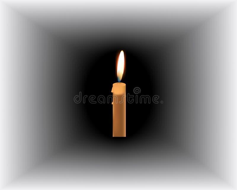 灼烧的蜡烛黑暗 也corel凹道例证向量 皇族释放例证