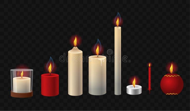 灼烧的蜡烛-现实传染媒介隔绝了剪贴美术套对象 皇族释放例证