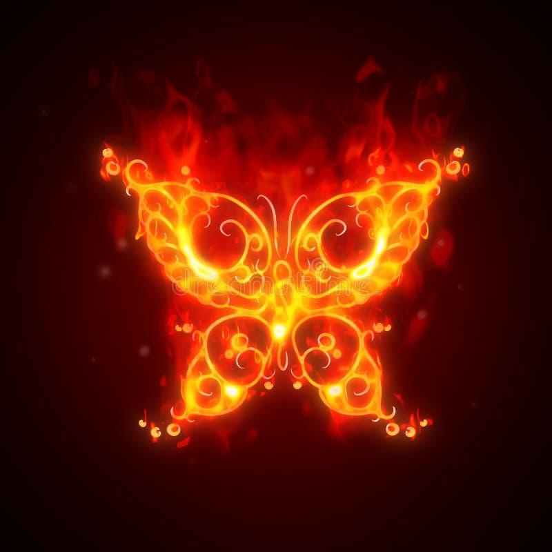 灼烧的蝴蝶 库存例证