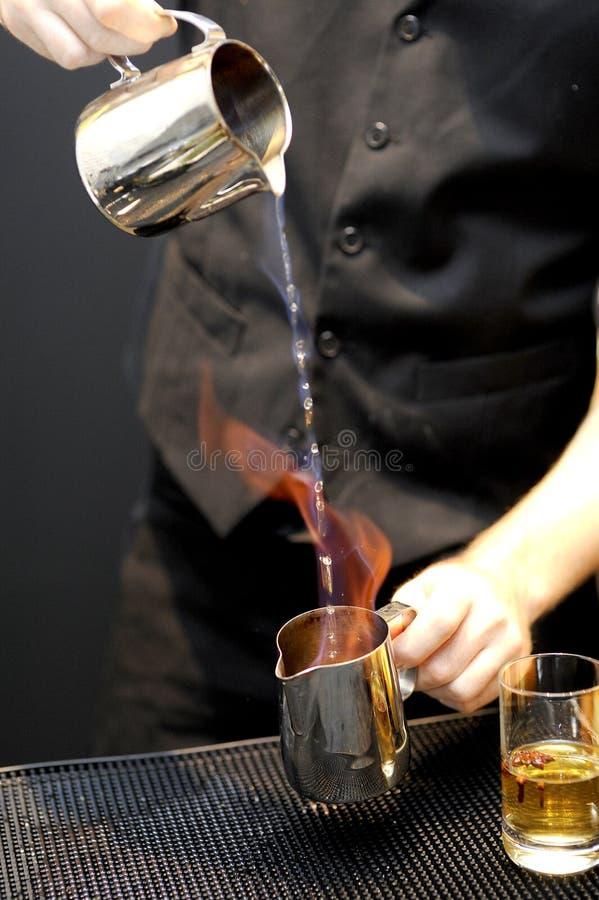 灼烧的酒精饮料 库存图片