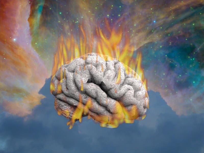 灼烧的头脑 皇族释放例证