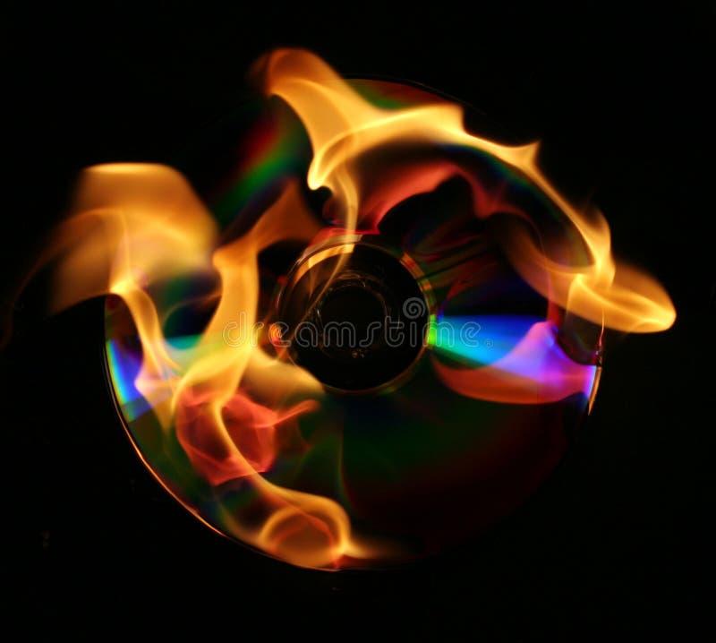 灼烧的CD的dvd 免版税库存图片