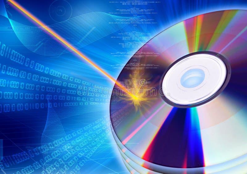 灼烧的CD/DVD概念 向量例证