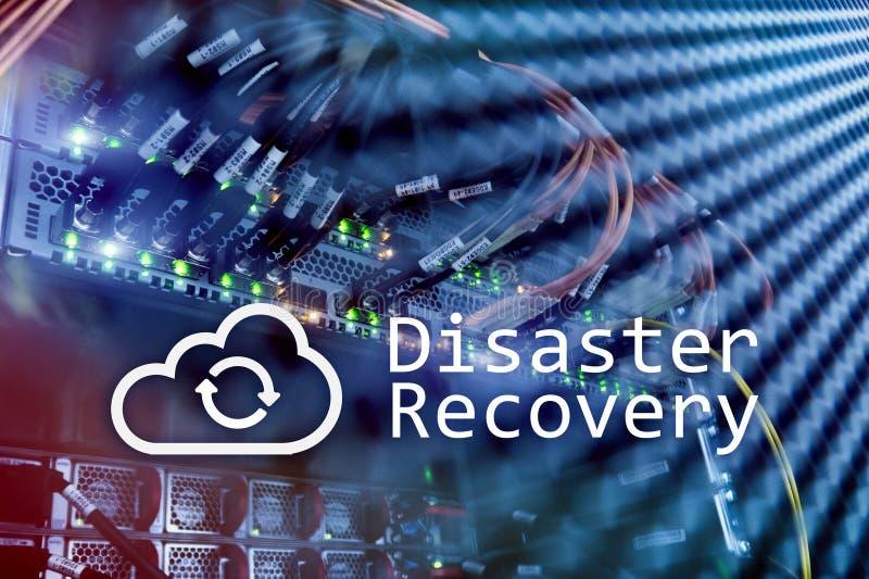 灾后重建 数据预防损失的措施 背景的服务器室 皇族释放例证