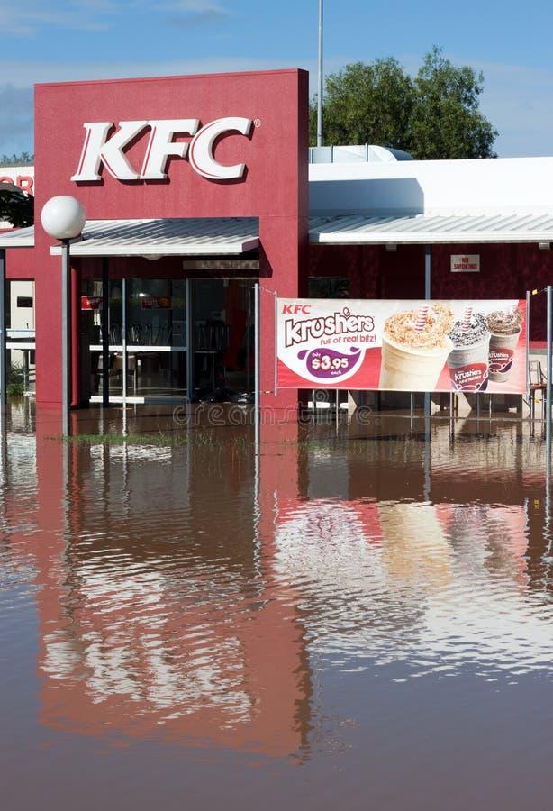 灾害充斥kfc昆士兰垂直 库存图片
