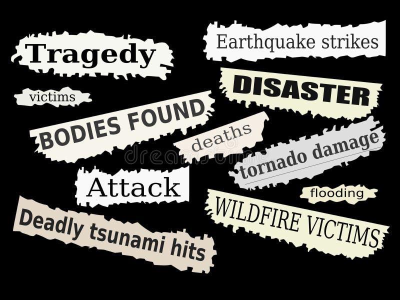 灾害 向量例证