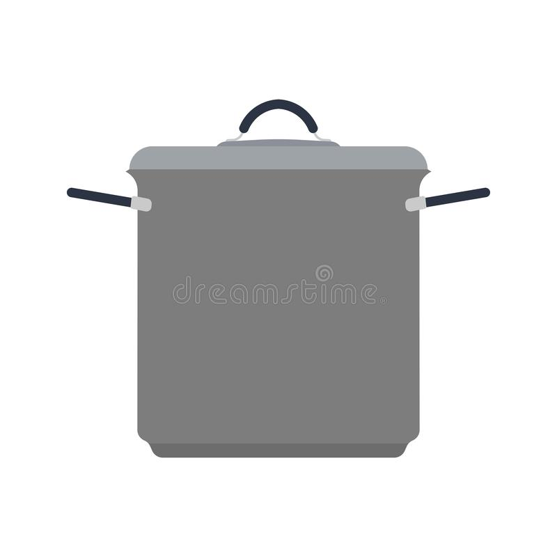炊具家标志烹调内部 把柄厨师烹饪餐具工具传染媒介平的象 向量例证