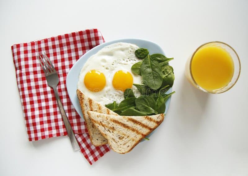 早餐顶视图 r 库存图片