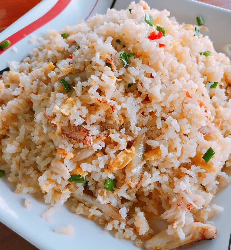 炒饭用蟹肉 图库摄影