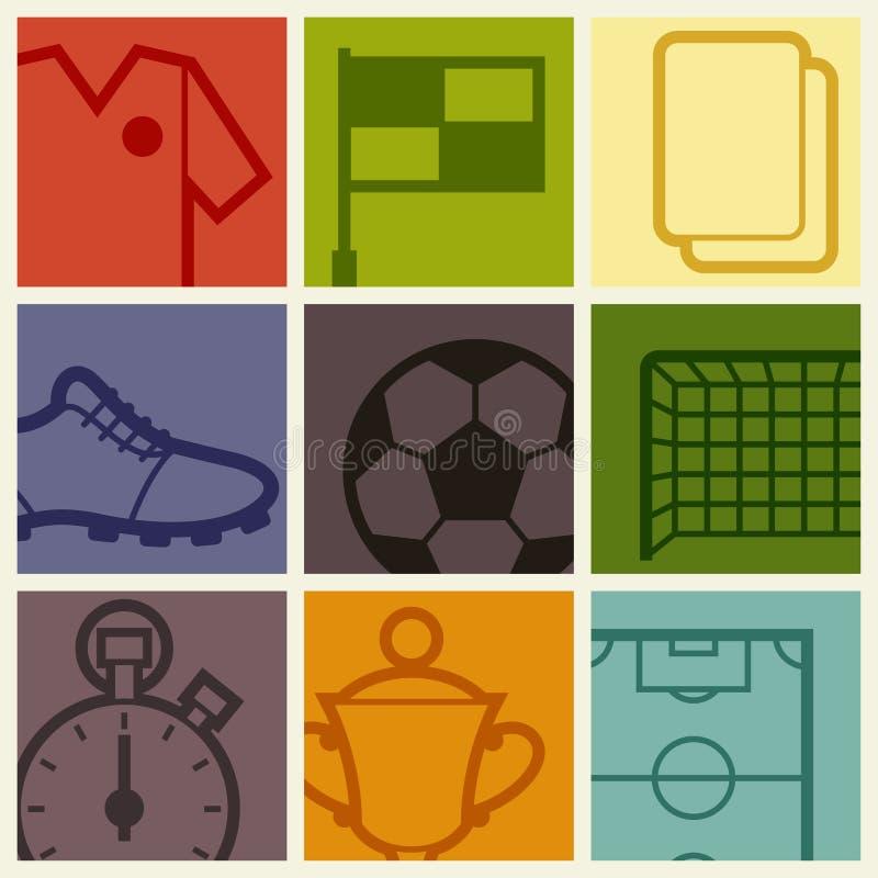 炫耀与足球橄榄球标志的背景 库存例证