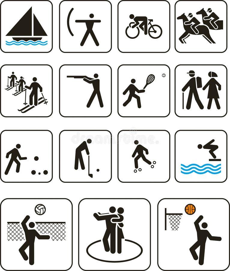 炫耀奥林匹克运动会符号 向量例证