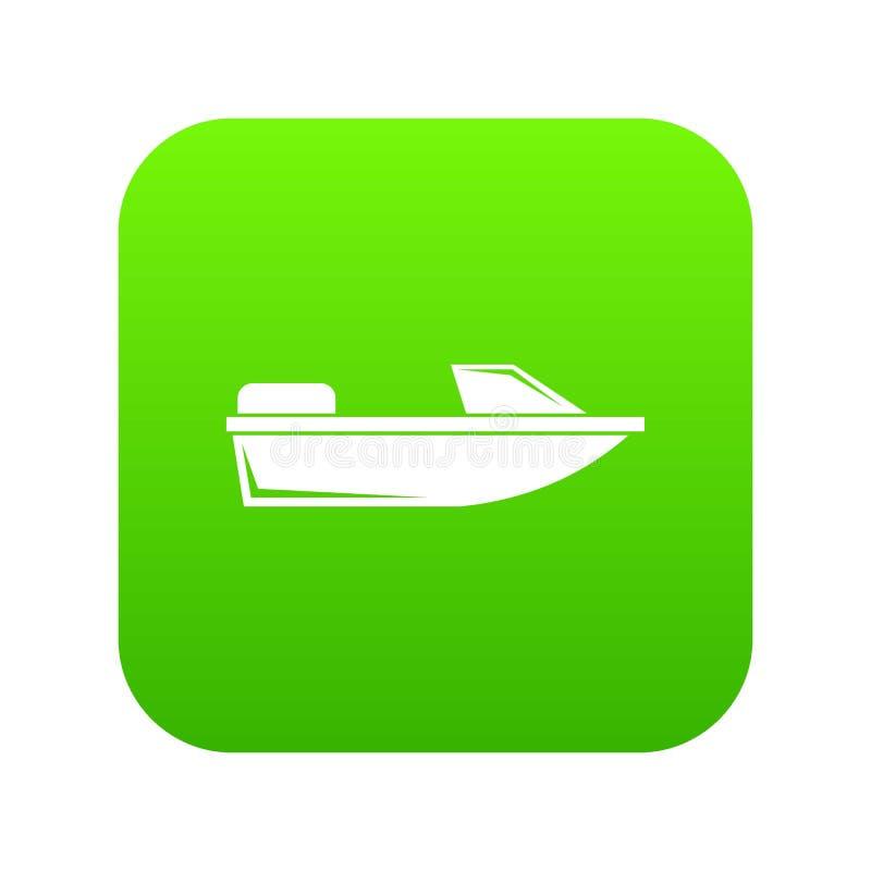 炫耀快速汽艇象数字式绿色 向量例证
