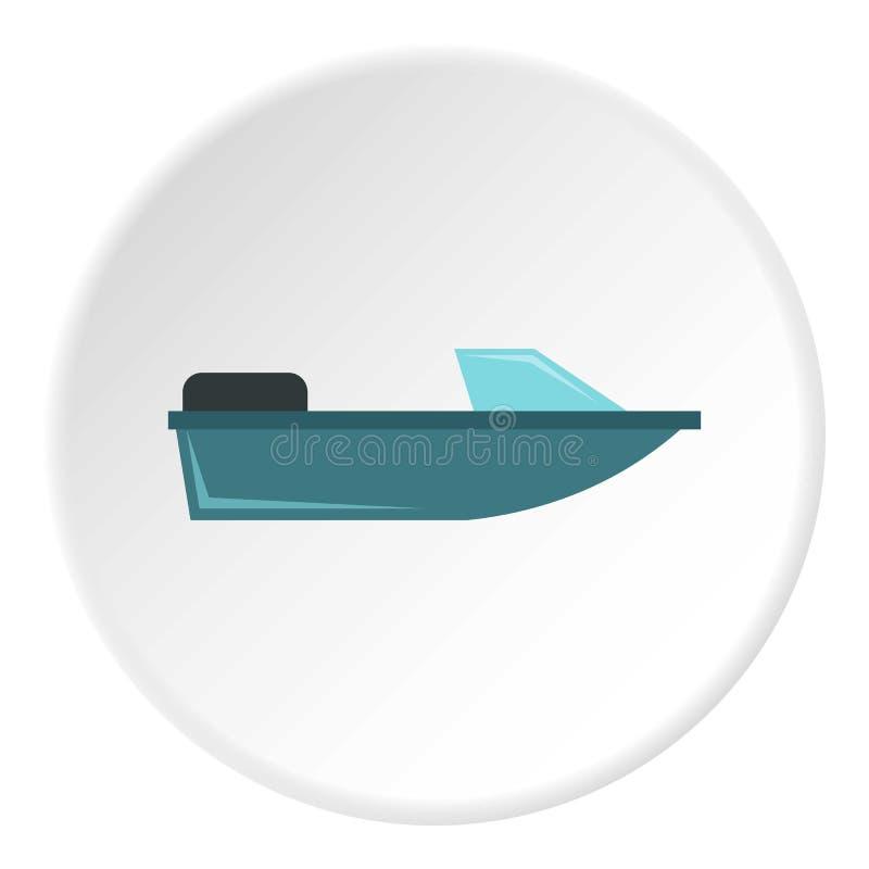炫耀快速汽艇象,平的样式 向量例证