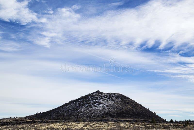 炭渣锥体,火山岩床国家历史文物 免版税库存图片