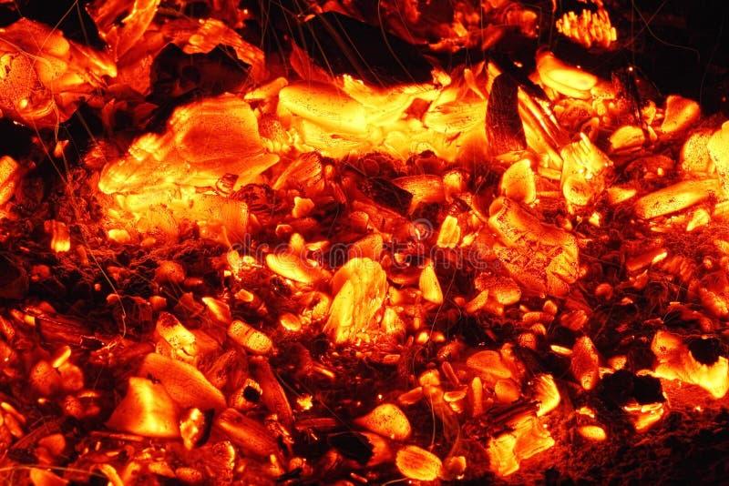 炭烬发光 免版税库存照片