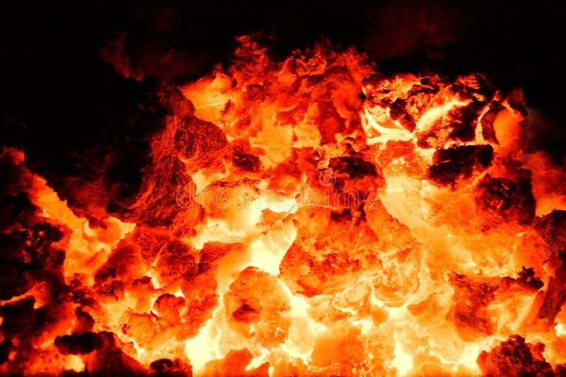炭烬火山 免版税库存图片