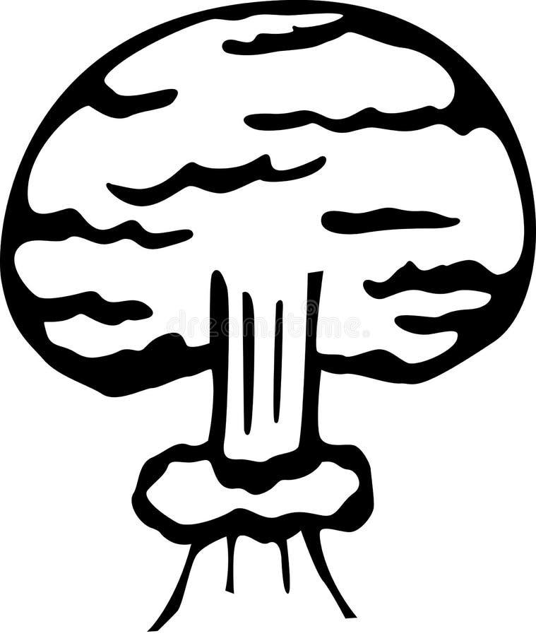 炸弹展开例证核向量 向量例证
