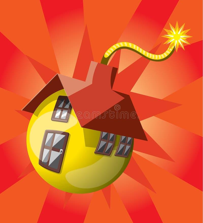 炸弹形状的房子 免版税库存图片