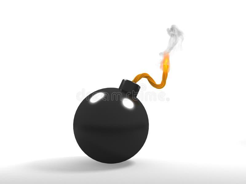 炸弹燃烧 皇族释放例证