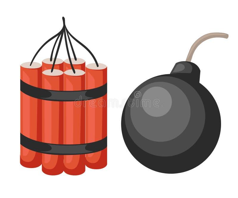 炸弹爆炸动画片被隔绝的样式背景 库存例证