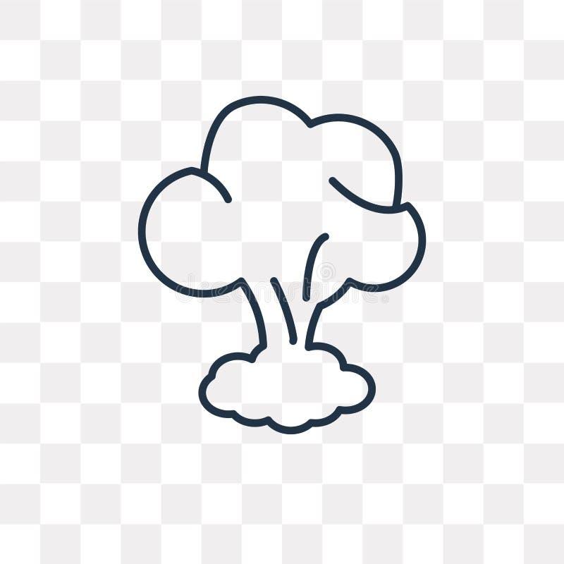炸弹爆炸在透明背景隔绝的传染媒介象,l 皇族释放例证