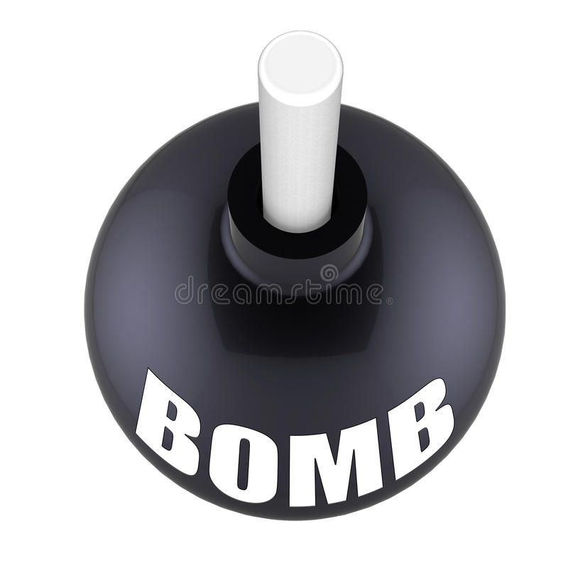 炸弹经济 皇族释放例证