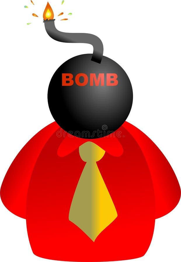 炸弹表面 皇族释放例证