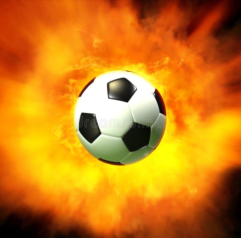 炸弹足球 向量例证