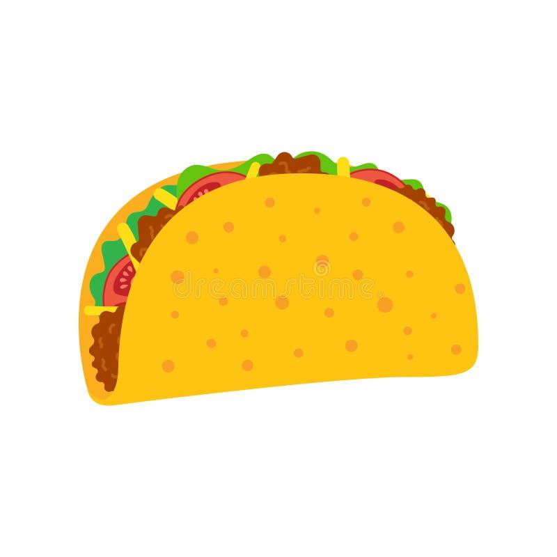 炸玉米饼墨西哥人食物 向量例证