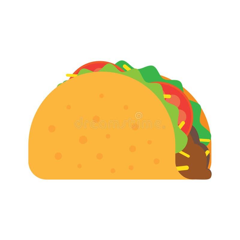 炸玉米饼墨西哥人食物 库存例证