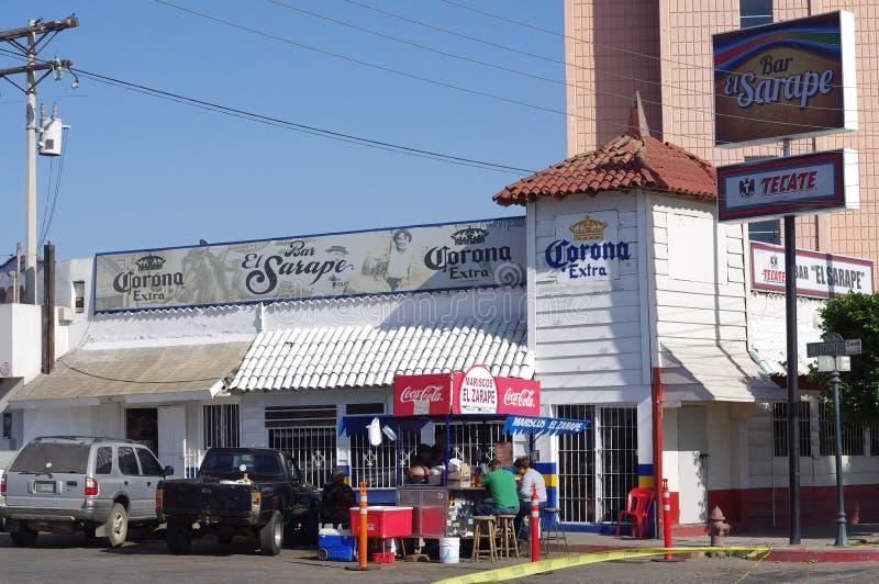 炸玉米饼立场在Ensenada,墨西哥 免版税库存照片