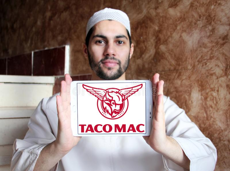 炸玉米饼Mac餐馆商标 免版税库存照片