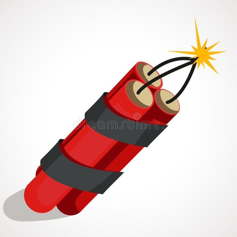 炸药的动画片例证 库存例证