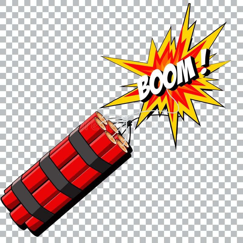 炸药的景气 8另外的书可笑的eps展开格式以图例解释者向量 向量例证