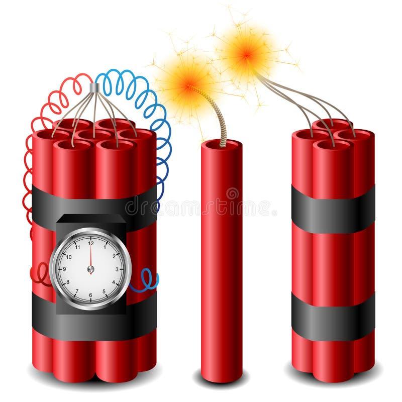 炸药集合 向量例证