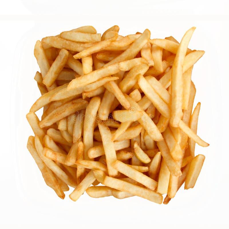 炸薯条查出白色 库存图片