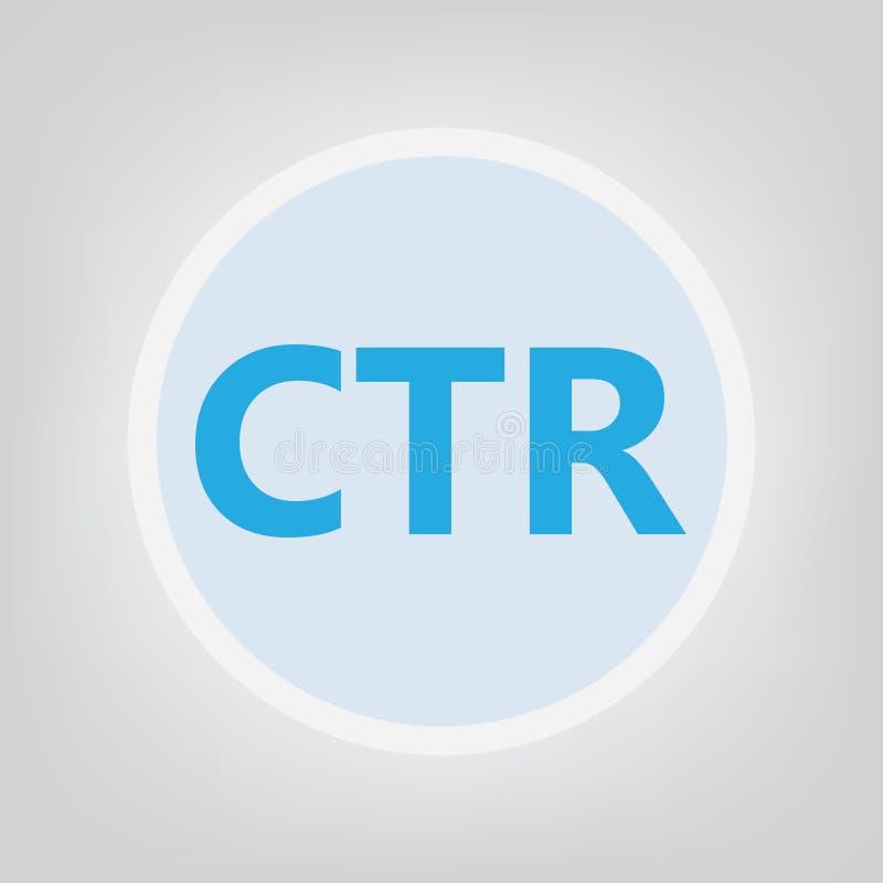 点击通过率首字母缩略词的CTR 皇族释放例证