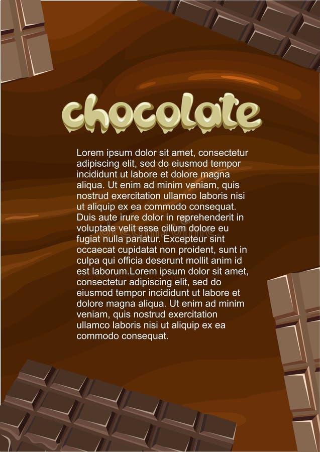 点心和甜产品海报 向量例证