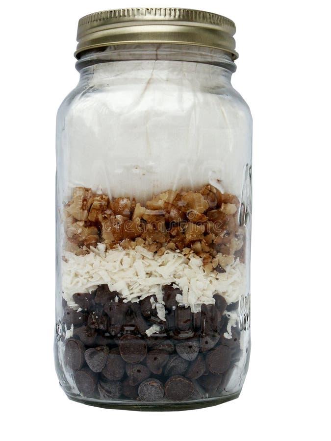 Download 点心瓶子 库存图片. 图片 包括有 巧克力, 成份, 容器, 胡桃, 螺母, 空白, 混合物, 椰子, 瓶子 - 188641