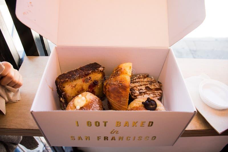 点心计时,旧金山面包店 图库摄影