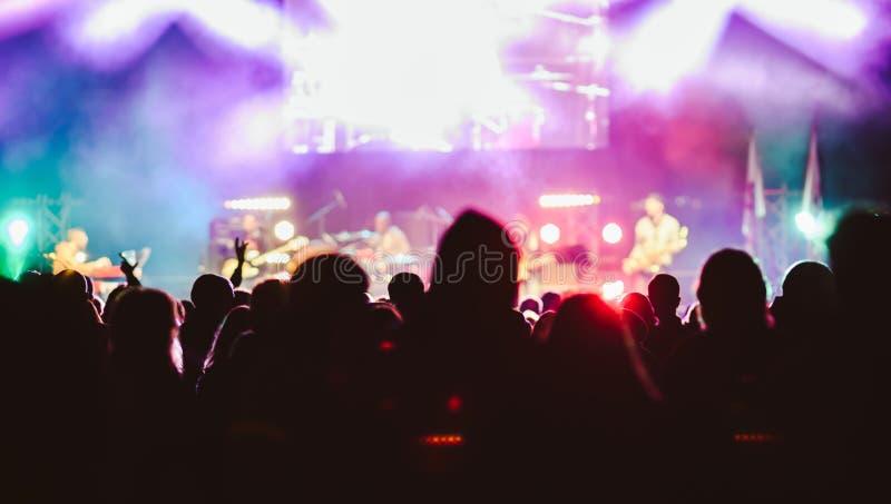 点燃在音乐会 库存照片