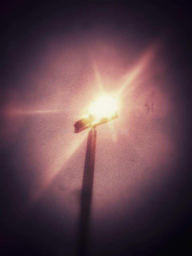 点燃在黑暗中 免版税图库摄影