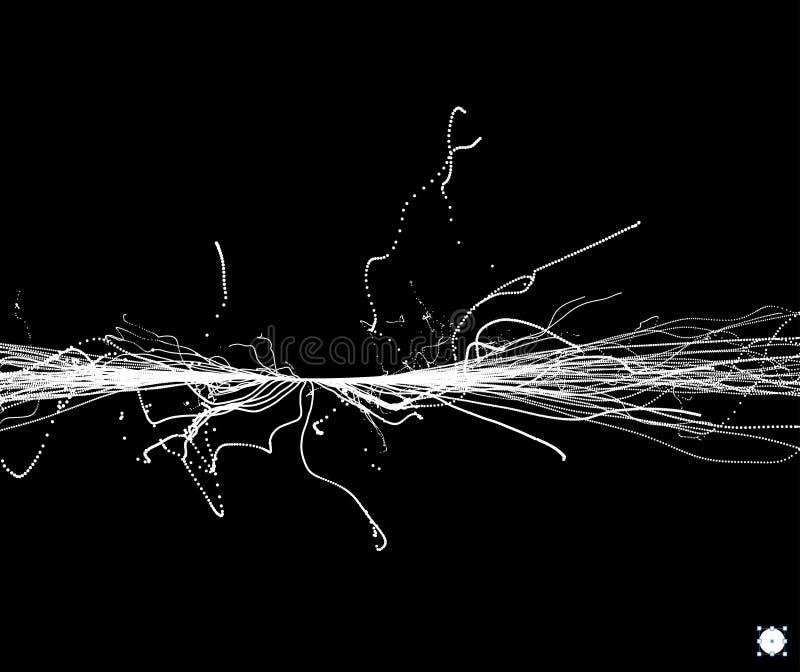 点爆炸 与动态散发的微粒的列阵 动态抽象的背景 皇族释放例证