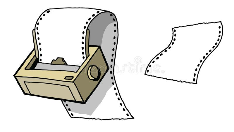 点矩阵打印机 库存例证